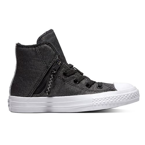 Kids  Converse Chuck Taylor All Star Pull Zip High Top Shoes 16076078a