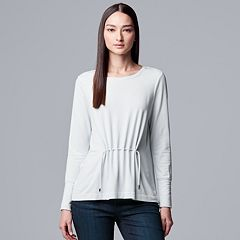 Women's Simply Vera Vera Wang Pleated Drawstring Top