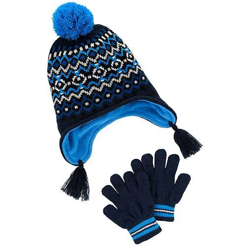 Boys 4-7 Carter's Hat & Gloves Set