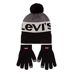 Boys 4-20 Levi's  Beanie & Gloves Set