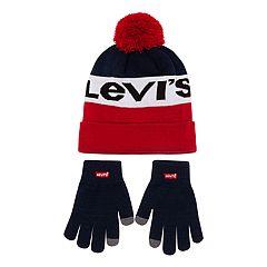 Boys 4-20 Levi's  Beanie & Gloves Set