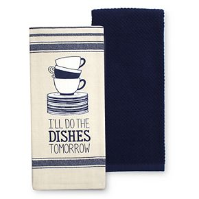 Food Network? Stacked Dishes Kitchen Towel 2-pack