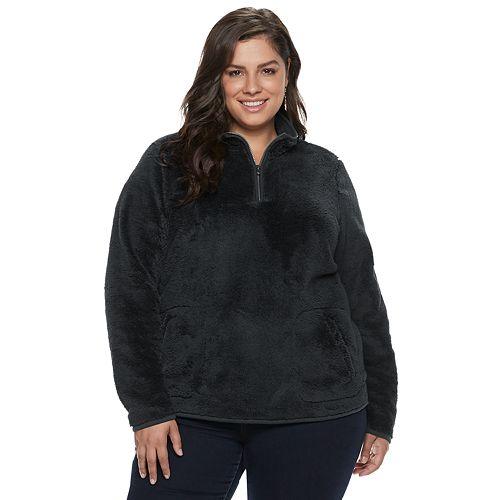 Plus Size SONOMA Goods for Life™ Supersoft Half-Zip Sherpa Sweatshirt