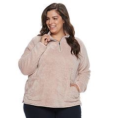 Plus Size SONOMA Goods for Life™ Supersoft Half-Zip Sherpa Sweatshirt