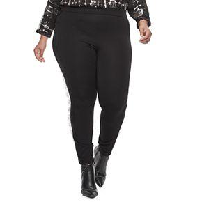 Plus Size Jennifer Lopez Lace-Trim Ponte Leggings
