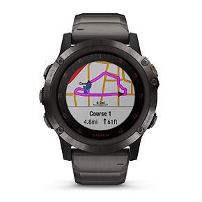 Garmin fenix 5 Plus Smartwatch Sapphire, Carbon Gray DLC Titanium with DLC Titanium Band