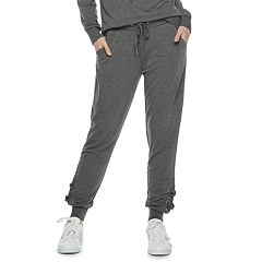 Women's Adrienne Vittadini Lace-Up Detail High-Waisted Jogger Sweatpants