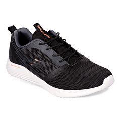 238d556bfb283 Skechers Bounder Men's Slip-On Sneakers. Black White