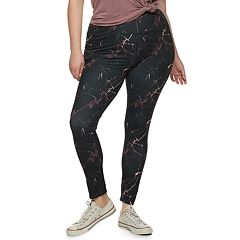 Juniors' Plus Size SO® High-Waisted Printed Yoga Leggings