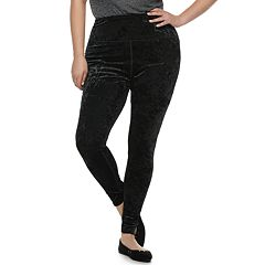 Juniors' Plus Size SO® High-Waisted Velour Yoga Leggings