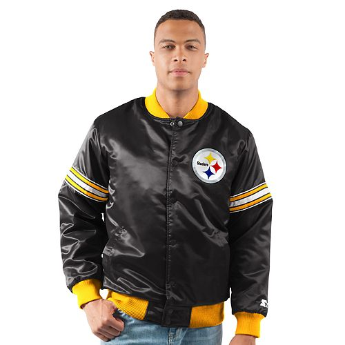 new product 00e5b 28aef Men's Pittsburgh Steelers Draft Pick Bomber Jacket