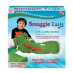 Snuggie Tails Green Dragon Blanket