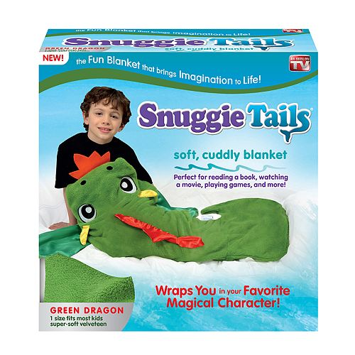Snuggie Tails Green Dragon Blanket