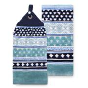 Food Network? Indigo Tie-Top Kitchen Towel 2-pack