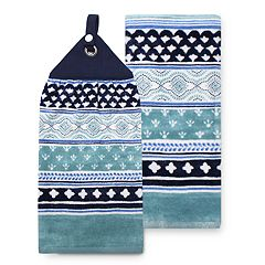 Food Network™ Indigo Tie-Top Kitchen Towel 2-pack