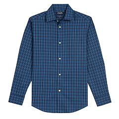 Boys 8-20 Chaps Holiday-Plaid Shirt & Tie Set