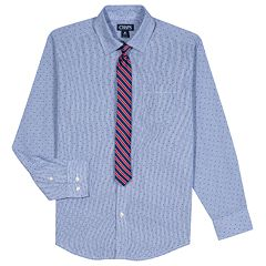 Boys 8-20 Chaps Plaid Button-Down Shirt & Tie Set