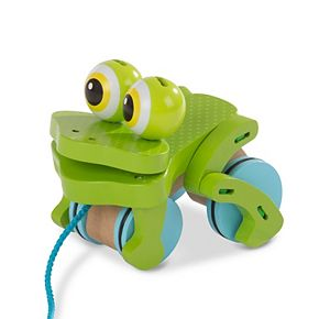 Melissa & Doug First Play Frolicking Frog Wooden Pull Toy