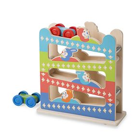 Melissa & Doug First Play Roll & Ring Ramp Tower Set