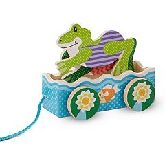 Melissa & Doug First Play Friendly Frogs Wooden Pull Toy