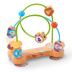 Melissa & Doug First Play Pets Wooden Bead Maze With Suction Cups