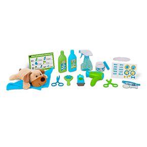 Melissa & Doug Feed & Groom Dog Groomer Play Set