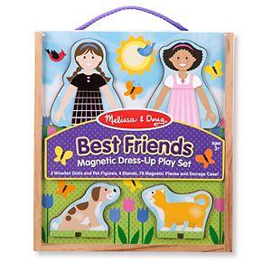 Melissa & Doug Best Friends Magnetic Dress-Up Wooden Dolls Set