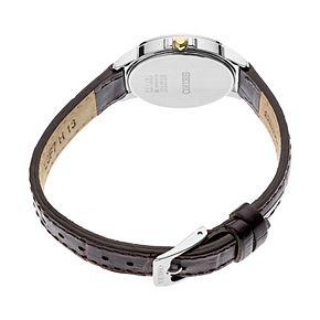 Seiko Women's Essentials Leather Solar Watch - SUT375