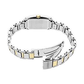 Seiko Women's Diamond Accent Two Tone Stainless Steel Solar Watch - SUP405