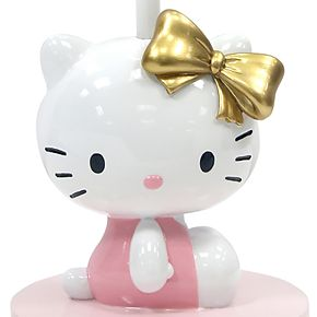 Lambs & Ivy Stay Hello Kitty Lamp with Shade & Lightbulb