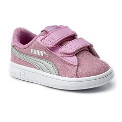 PUMA Smash V2 Glitz Glam Preschool Girls' Water Resistant Sneakers