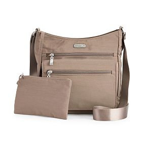 Baggallini Top Zip Flap Crossbody Bag with RFID-Blocking Pouch