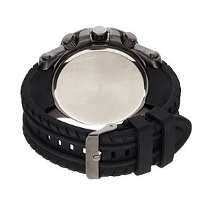 Folio Men's Black Silicone Band Watch