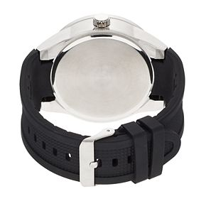 Folio Men's Textured Silicone Band Watch