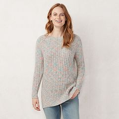 Women's LC Lauren Conrad Textured Lurex Tunic Sweater