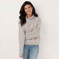 Women's LC Lauren Conrad Textured Funnel-Neck Sweater