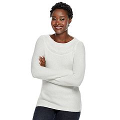 Women's Croft & Barrow® Textured Boatneck Sweater