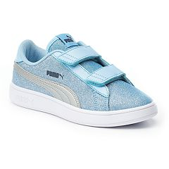 PUMA Smash V2 Glitz Glam Grade School Girls' Water Resistant Sneakers