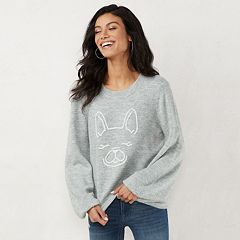 Women's LC Lauren Conrad Novelty Balloon-Sleeve Sweater