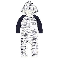 Baby Boy Burt's Bees Baby Organic Peering Light Hooded Jumpsuit Coverall