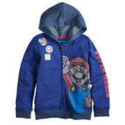 Boys 4-12 Jumping Beans® Super Mario Bros. Patches Zip Hoodie