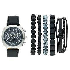American Exchange Men's Watch & Bracelet Set