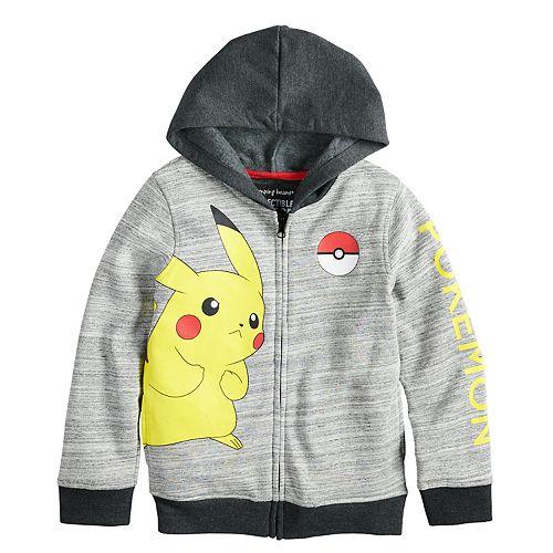 a87653503 Boys 4-12 Jumping Beans® Pokemon Pikachu Zip Hoodie
