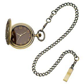 Folio Men's Eagle Pocket Watch, Dad Pocket Knife & Mini Flask Set
