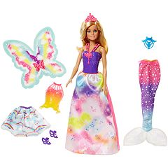 Barbie Dreamtopia Fairytale Rainbow Cove Dress-Up Doll Set