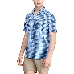 Men's Chaps Classic-Fit Short-Sleeve Performance Button-Down Shirt