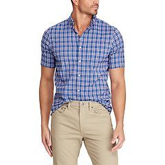 Men's Chaps Classic-Fit Short-Sleeve Performance Button-Down Shirt