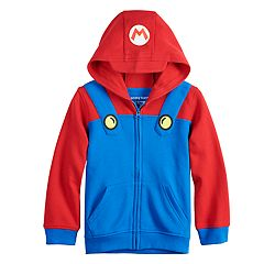 Boys 4-12 Jumping Beans® Mario Bros. Costume Zip Hoodie