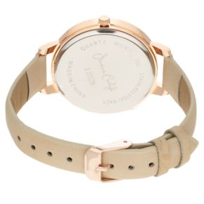 Women's Crystal Accent Floral Leather Watch