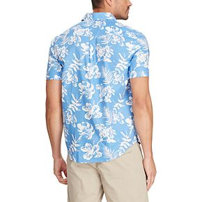 Men's Chaps Classic-Fit Untucked Patterned Button-Down Shirt